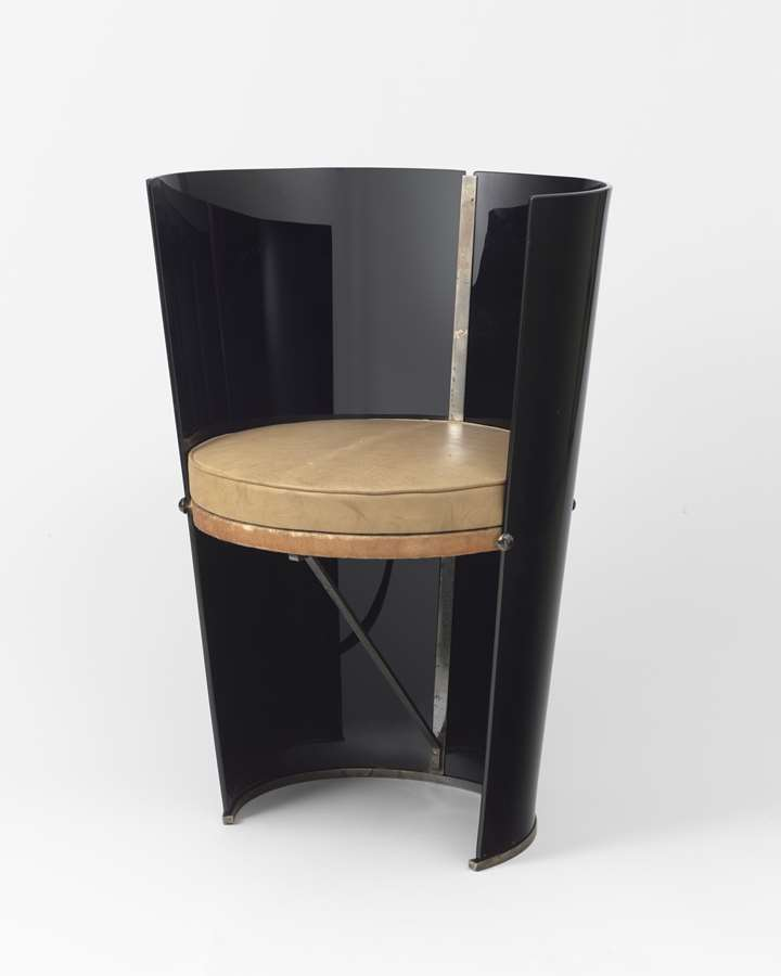 Black glass chair